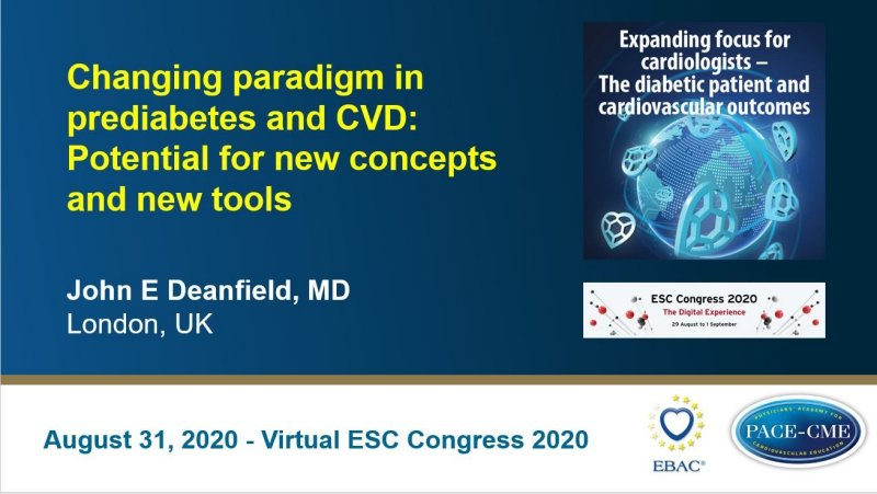 Slides: Changing paradigm in prediabetes and CVD: Potential for new concepts and new tools