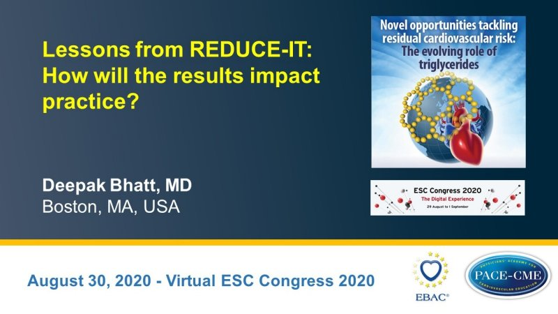 Slides: Lessons from REDUCE-IT: How will the results impact practice?