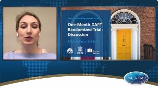 The discussant of the presentation of the Short DAPT trial, Róisín Colleran, gives a brief summary of the trial results and discusses the strengths and limitations of the trial.