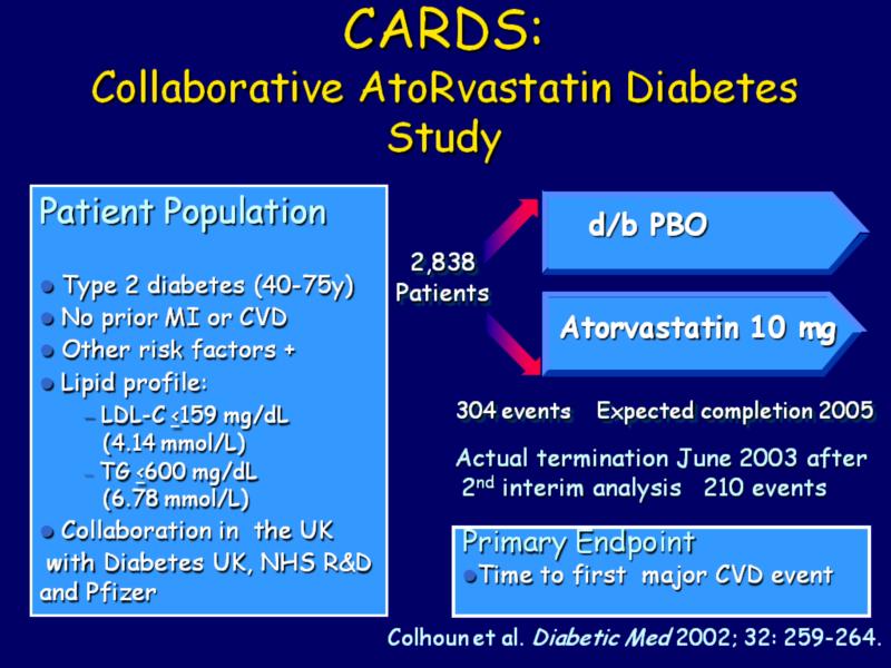 Design of the Collaborative AtoRvastatin Diabetes Study ...